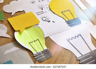 Big idea concept design. Concept for business, marketing, brainstorming, creative project, product development, startup, consulting, innovation.