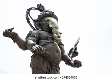 big image of Ganesha statue in standing action in thailand