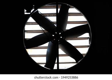 Big industrial fan in factory Factory building ventilation