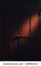 Big Iron Bolted Door at the Docks, Dock Night Scenery