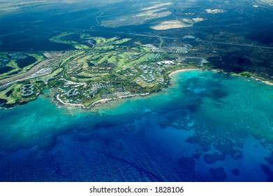 Big Island aerial shot - beach, Hawaii