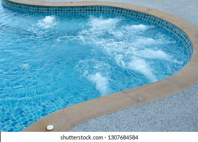 Big jacuzzi in swimming pool