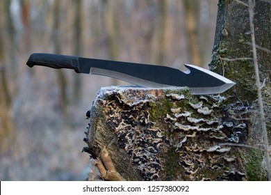 big knife in the wood