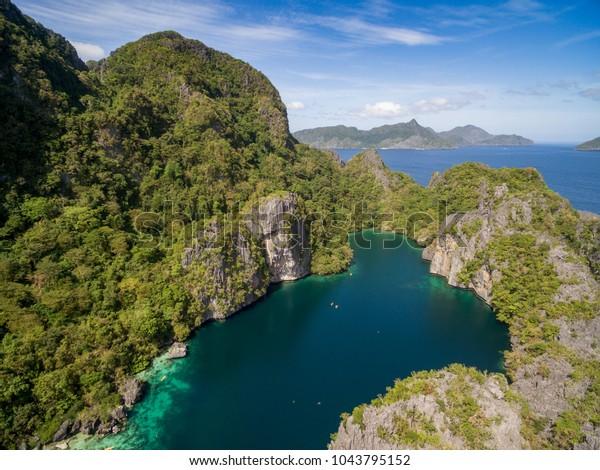 Big Lagoon El Nido Palawan Philippines Stock Image