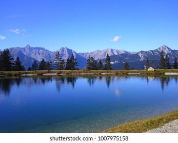 big lake in the mountains