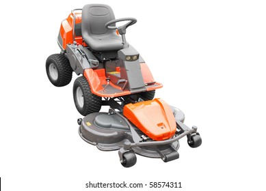 big lawn mower isolated