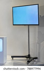 Big lcd TV display stand at exhibition