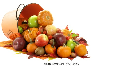 A big load of fruit and vegetable in the autumn
