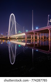 'Big Marge' aka The Margaret Hunt Hill Bridge is the redefining symbol of the ever changing skyline of Dallas, Texas.
