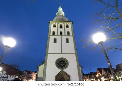 big marienchurch lippstadt germany in the evening