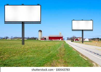 Big Metal Advertising Billboard Sign