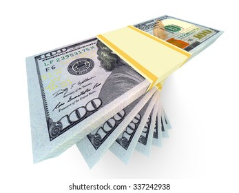 Big money stacks from dollars. Finance conceptual