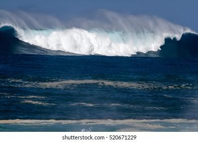 Big Ocean Wave on the north shore of Oahu Hawaii