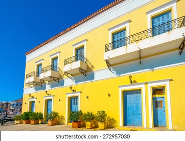 big old building in Spetses island in Greece