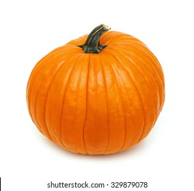 Big orange Pumpkin. on a white background.