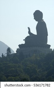 Big outdoor buddha Hongkong