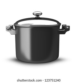 Big Pan isolated on white background High resolution. 3D image