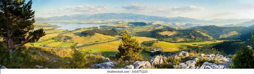 Big panorama of Slovakia most famous holiday destination, lookout over Liptov region