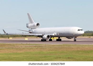 Big passenger airplane on runway.