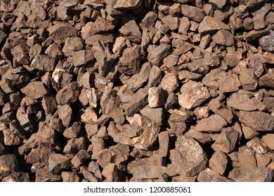 Big pieces Manganese ore