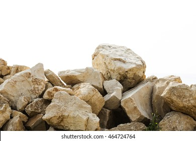 Big pile of boulders isolated
