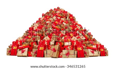 big pile of christmas gifts isolated on white background mountain of xmas boxes many - Big Christmas Gifts