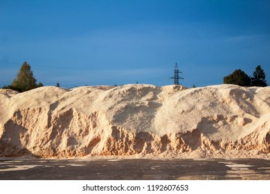 Big pile of sawdust