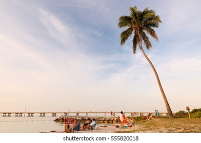 Big Pine Key, Florida - January 3, 2017: Bahia Honda Beach. Featuring an award winning beach, Bahia Honda State Park  in the Florida Keys has become a favorite destination for visitors.