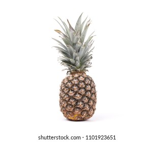 Big pineapple isolated on a white background