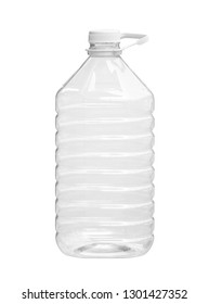 Big plastic bottle liquid packaging (with clipping path) isolated on white background