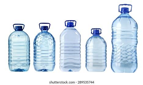 big plastic water bottle isolated on white background