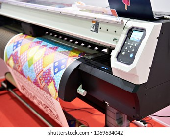 Big plotter printer with LED control panel