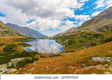 "Big Pond ""Wielki Staw"" in Five Polish Ponds Valley ""Dolina Pieciu Stawow Polskich"", Tatry mountains, Poland"