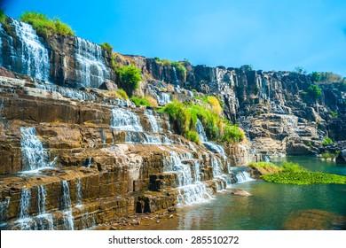 The big Pongour waterfall near Da Lat city, Vietnam