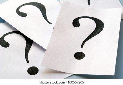 big question mark on the paper