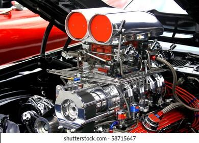 big racing car engine