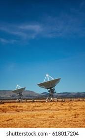 big radio telescope array in New Mexico USA
