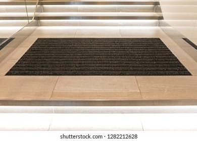 Big Rectangular Clean Textile Floor Doormat Entrance