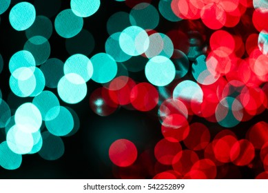 Big Red and Blue Bokeh Background