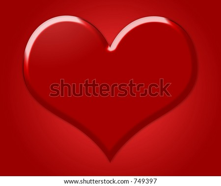 Big Red Heart Symbol Love Red Stock Photo Edit Now 749397
