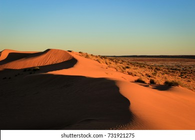 """Big Red"", the largest sand dune in the Simpson Desert, Central Australia"