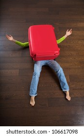 the big red suitcase killed a traveler woman