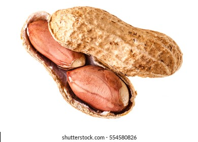 a big ripe peanut isolated over a white background
