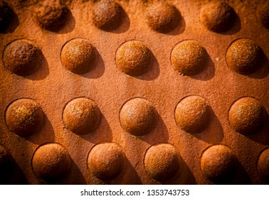Big rivets pattern. Industrial background, Rows of rivet heads in a pattern background.