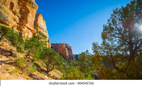 Big rock cliff in the Grand Canyon, USA