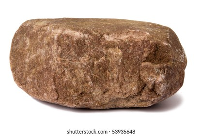 Big rock isolated on white