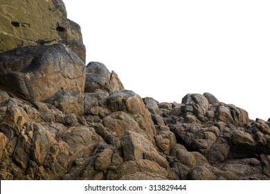 Big rock on isolated white background