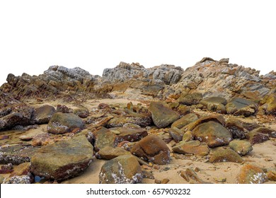 Big rock on isolated white background. This has clipping path.