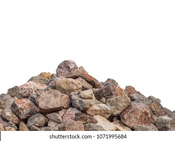 Big rock stone isolated on the white background