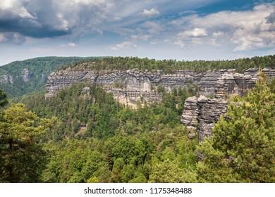 Big rocks in Bohemian-Saxen Switzerland in Czech Republic